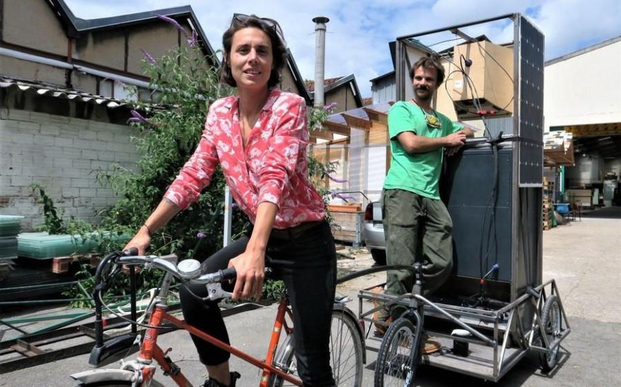 Fête de la musique à vélo, article dans le Figaro